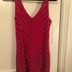 Cache Red Sequence dress